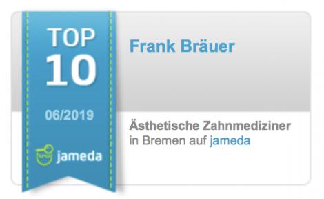 Jameda Bewertungen Top Zahnarzt Ästhetische Zahnheilkunde Frank Bräuer Bremen Nord
